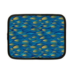 Blue Waves Netbook Case (small)  by FunkyPatterns