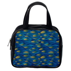 Blue Waves Classic Handbags (one Side) by FunkyPatterns
