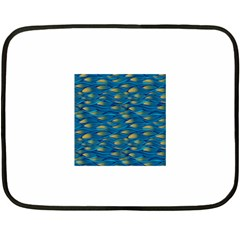 Blue Waves Fleece Blanket (mini) by FunkyPatterns