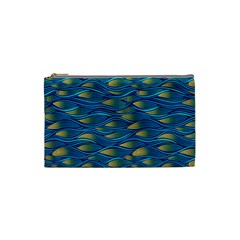 Blue Waves Cosmetic Bag (small)  by FunkyPatterns