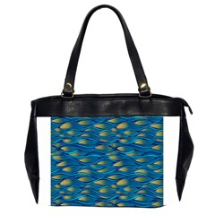 Blue Waves Office Handbags (2 Sides)  by FunkyPatterns