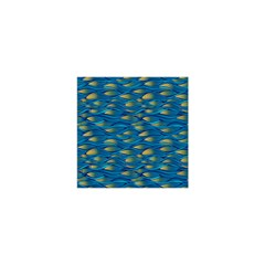 Blue Waves Shower Curtain 48  X 72  (small)  by FunkyPatterns