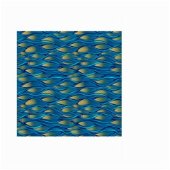 Blue Waves Large Garden Flag (two Sides) by FunkyPatterns