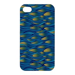 Blue Waves Apple Iphone 4/4s Premium Hardshell Case by FunkyPatterns