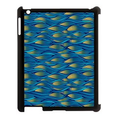 Blue Waves Apple Ipad 3/4 Case (black) by FunkyPatterns