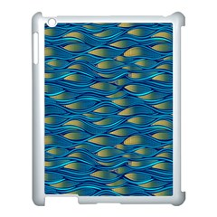 Blue Waves Apple Ipad 3/4 Case (white) by FunkyPatterns