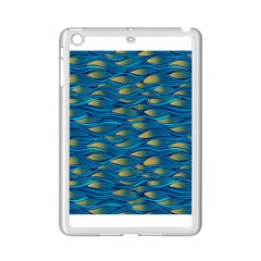 Blue Waves Ipad Mini 2 Enamel Coated Cases by FunkyPatterns