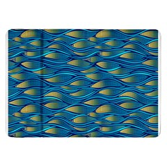 Blue Waves Samsung Galaxy Tab 8 9  P7300 Flip Case by FunkyPatterns