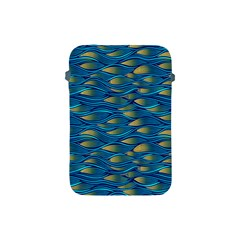 Blue Waves Apple Ipad Mini Protective Soft Cases by FunkyPatterns