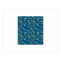 Blue Waves Double Sided Flano Blanket (large)  by FunkyPatterns