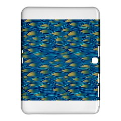 Blue Waves Samsung Galaxy Tab 4 (10 1 ) Hardshell Case  by FunkyPatterns