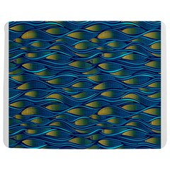 Blue Waves Jigsaw Puzzle Photo Stand (rectangular) by FunkyPatterns