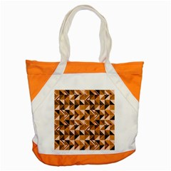 Brown Tiles Accent Tote Bag by FunkyPatterns