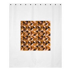 Brown Tiles Shower Curtain 60  X 72  (medium)  by FunkyPatterns