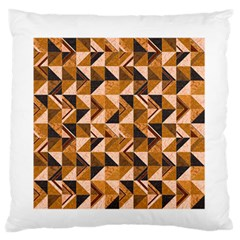 Brown Tiles Standard Flano Cushion Case (Two Sides) by FunkyPatterns