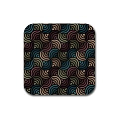 Glowing Abstract Rubber Coaster (Square)  by FunkyPatterns