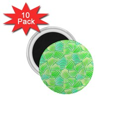 Green Glowing 1.75  Magnets (10 pack)  by FunkyPatterns