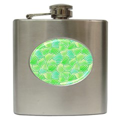 Green Glowing Hip Flask (6 oz) by FunkyPatterns