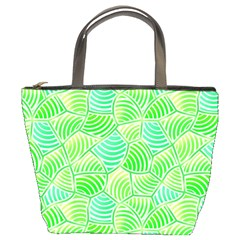Green Glowing Bucket Bags by FunkyPatterns