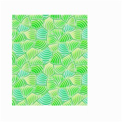 Green Glowing Large Garden Flag (two Sides) by FunkyPatterns