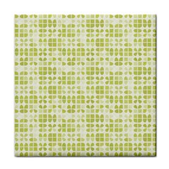 Pastel Green Tile Coasters by FunkyPatterns