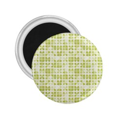 Pastel Green 2 25  Magnets by FunkyPatterns