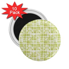 Pastel Green 2 25  Magnets (10 Pack)  by FunkyPatterns