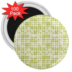 Pastel Green 3  Magnets (100 Pack) by FunkyPatterns