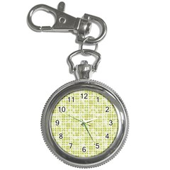 Pastel Green Key Chain Watches by FunkyPatterns