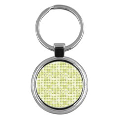 Pastel Green Key Chains (round)  by FunkyPatterns