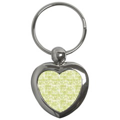 Pastel Green Key Chains (heart)  by FunkyPatterns
