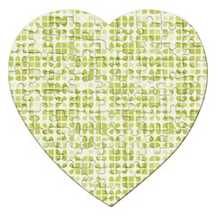 Pastel Green Jigsaw Puzzle (heart) by FunkyPatterns