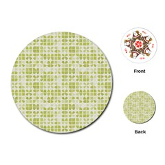 Pastel Green Playing Cards (round)  by FunkyPatterns