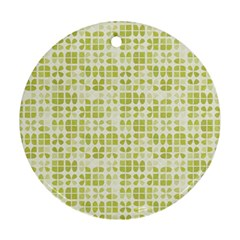 Pastel Green Round Ornament (two Sides)  by FunkyPatterns