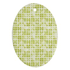 Pastel Green Oval Ornament (two Sides) by FunkyPatterns