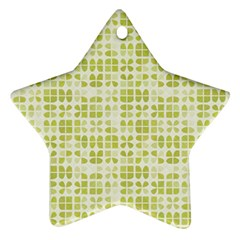 Pastel Green Star Ornament (two Sides)  by FunkyPatterns