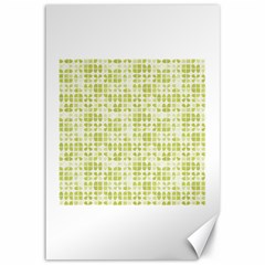 Pastel Green Canvas 12  X 18   by FunkyPatterns