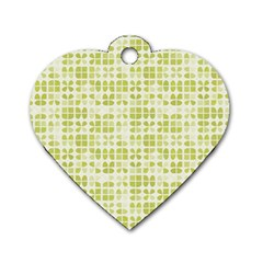 Pastel Green Dog Tag Heart (two Sides) by FunkyPatterns