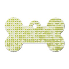Pastel Green Dog Tag Bone (one Side) by FunkyPatterns