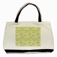 Pastel Green Basic Tote Bag (two Sides) by FunkyPatterns