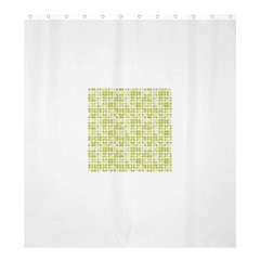 Pastel Green Shower Curtain 66  X 72  (large)  by FunkyPatterns