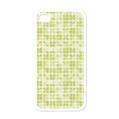 Pastel Green Apple Iphone 4 Case (white) by FunkyPatterns