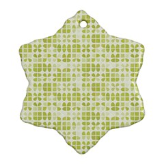 Pastel Green Ornament (snowflake)  by FunkyPatterns