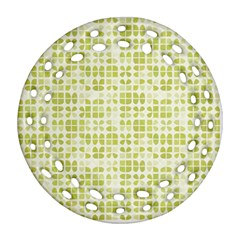 Pastel Green Round Filigree Ornament (2side) by FunkyPatterns
