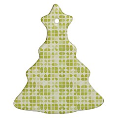 Pastel Green Christmas Tree Ornament (2 Sides) by FunkyPatterns