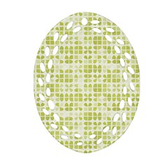 Pastel Green Ornament (oval Filigree)  by FunkyPatterns