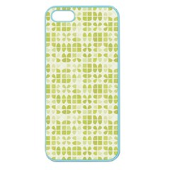 Pastel Green Apple Seamless Iphone 5 Case (color) by FunkyPatterns