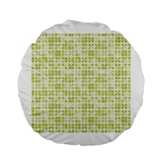 Pastel Green Standard 15  Premium Flano Round Cushions by FunkyPatterns