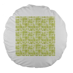 Pastel Green Large 18  Premium Flano Round Cushions by FunkyPatterns