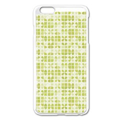Pastel Green Apple iPhone 6 Plus/6S Plus Enamel White Case by FunkyPatterns